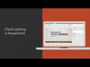 Check spelling in PowerPoint 2016