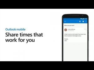 Quickly send your meeting availability - Outlook mobile