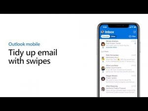 Swipe right to quickly manage your inbox - Outlook mobile