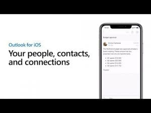 Find contact and organizational details - Outlook for iOS